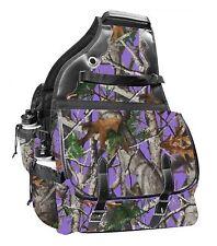 Showman PURPLE Real Oak 600 Denier Delux Insulated Western Saddle Bag HORSE TACK