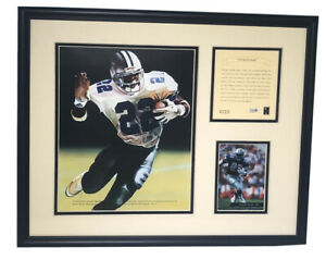 1994 Emmitt Smith Dallas Cowboys Kelly Russell Framed Lithograph Art Print #4110