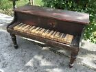 RARE ANTIQUE CHILDS PIANO XYLOPHONE GREAT PATINA DISPLAY W  ANTIQUE DOLLS
