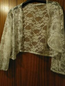 White Lace stretch bolero/shrug, bridal