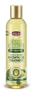 African Pride Olive Miracle Anti-Breakage Growth Oil Treatment 237ml