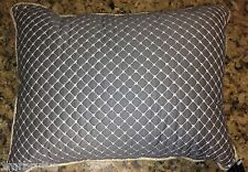 American Classics Lucca Decorative Pillow Gray Embroidered Twine Country Chic