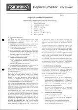 Grundig Service Manual für RTV 820 ,
