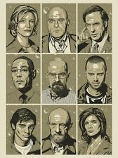 Breaking Bad Bunch Gifs Poster 18x24 Signed & Numbered #/50 Yellow Variant