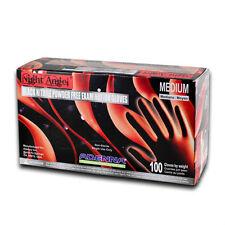 1box. Adenna NIGHT ANGEL Nitrile PF exam gloves. Sz: XLARGE, Black. TATTOO SALON