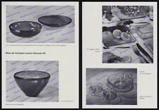 Preßglas Design Wagenfeld VLG Weißwasser Vereinigte Lausitzer Glaswerke 1940