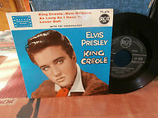 """elvis presley""""king créole n°1""""ep7""""fr.rca area:75474.noir-de1959biem rare version"""