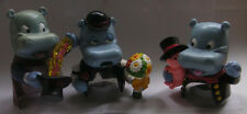 3 x Happy Hippo - Figuren ohne unterbau