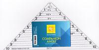 Companion Angle ruler for cutting quarter square triangles