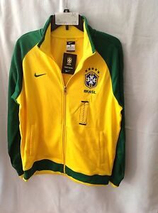 Nike Sports Jacket CBF Soccer Team Brasil M (Green-03) NEW