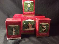 4 Hallmark Keepsake Ornaments Peanuts Snoopy Beaglescout Woodstock Charlie Brown