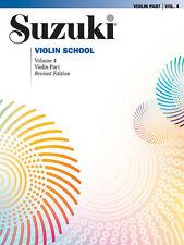 Suzuki Violin School Vol 4 Libro Rev 08 Suzuki, Shinichi Violín enseñanza