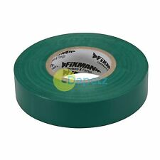 Insulation Tape - 19mm X 33M Electrical Green Rubber Glue On Pvc Flame Retardant