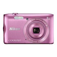 Nikon Coolpix A300 20.1MP Digital Camera 8x Optical Zoom Pink Wi-Fi / NFC