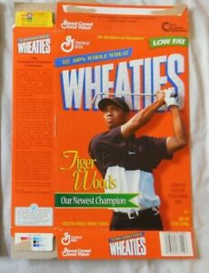 Tiger Woods Wheaties Cereal Box 12 oz box