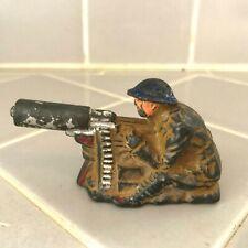 Vintage Hollow MANOIL LEAD SOLDIER MACHINE GUNNER