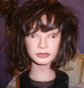 COSMETOLOGY MANNEQUIN HEAD 100% HUMAN HAIR, AMERIKIN 14112