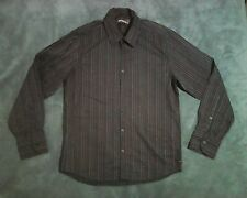 M 42 inch DUCK AND COVER black & pink stripe shirt cotton long sleeve designer