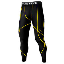 Take Five Mens Skin Tight Compression Base Layer Running Pants Leggings NP537