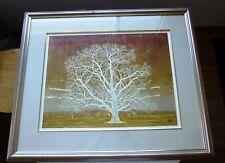 MORIHIRO SATO   WOODBLOCK PRINT OF TREE
