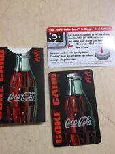 RARE 1999 Coca Cola Coke Card with holder MINT BOSTON , MA issue