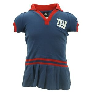 New York Giants Official NFL Apparel Youth Kids Girls Size Collared Dress New