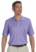 Ashworth Men's Polyester Sports Rib Knit Short Sleeve Stripe Polo T-Shirt. 3046