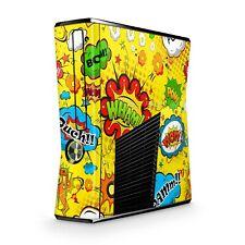 Xbox 360 Slim Skin Aufkleber Schutzfolie Sticker Skins Folie Design Comics gelb