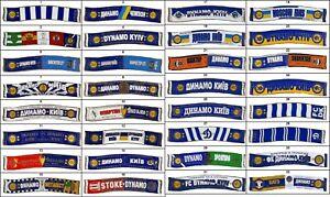 metall football pin/badge Dynamo Kiev Kyiv Ukraine - ULTRAS. shape - scarf! NEW!