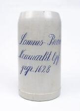 Antiker Bierkrug Lammsbräu Lamms-Bräu Neumarkt gegr.1628 geritzt