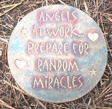 Angel plaque plastic mold for plaster concrete mould