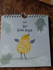 """GRAFIK WERKSTATT Postkarten Kalender 2021 """"Der frühe Vogel"""""""
