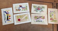 Patriotic Embroidered Silk Collectable Military Postcards