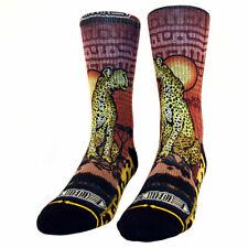 Merge4 x Taylor Reinhold Cheetah Men's Socks Black Clothing Apparel Footwear .