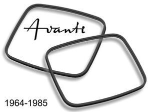 Studebaker Avanti 1964-1985 Avanti II Glass Headlight LENS EDGE SEAL GASKET PAIR