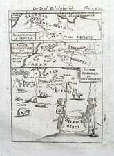 NORTH AFRICA, MOROCCO, ALGERIA, BILEDULGERID Mallet original antique map 1719