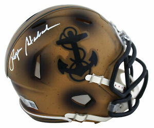 Navy Roger Staubach Authentic Signed 2019 Bowl LE Speed Mini Helmet BAS Witness