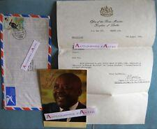 Leabua JONATHAN 1981 Kingdom of LESOTHO Photo signée Prime Minister Autograph