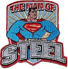 Superman 1950's The Man of Steel Figure Logo Patch