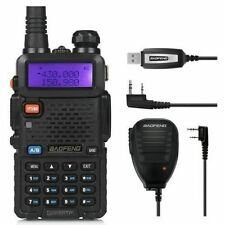 Baofeng Uv-5Rtp Portable Two-Way Radio +Speaker &Cable Dual Band V/Uhf Fm Ham 8W