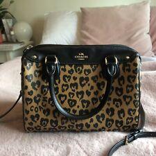 Coach Mini Bennett Bag With Wild Heart Leopard Print RRP £295