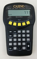 Excalibur Games Casino Six in One Calculator Handheld Electronic LCD Game WORKS