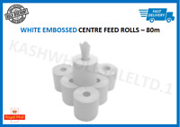 Centre Feed Rolls Embossed White Hand Towels Centrefeed 2Ply 6/12/24/48 Pack