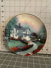 """Bradford Exchange Collectible Plate """"Home Sweet Home"""" by Thomas Kinkade"""