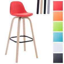 Tabouret de bar AVIKA assise et dossier similicuir chaise bar avec repose-pied