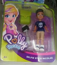 Polly Pocket  2018 Selfie Stick Nicolas Boy Doll - Outfit & Accessories  New