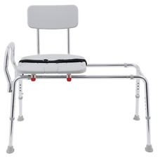 Eagle Health Sliding Bath Shower Transfer Bench Chair with Cut-Out