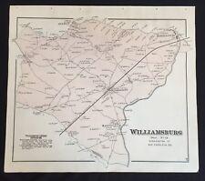 1877 EASTERN SHORE MARYLAND MAP WIlliamsburg FEDERALSBURG Dorchester County