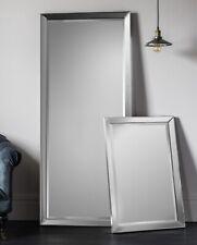 Full Length Mirror All Mirror Frame Plain Silver Entry Mirror Standing Mirror