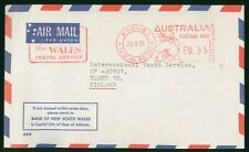 MayfairStamps Australia 1975 Bank of New South Wales Sydney to Turku Finland Air